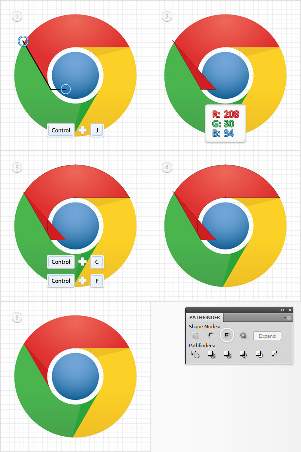 How to Create a Simple Google Chrome Icon in Adobe Illustrator 11