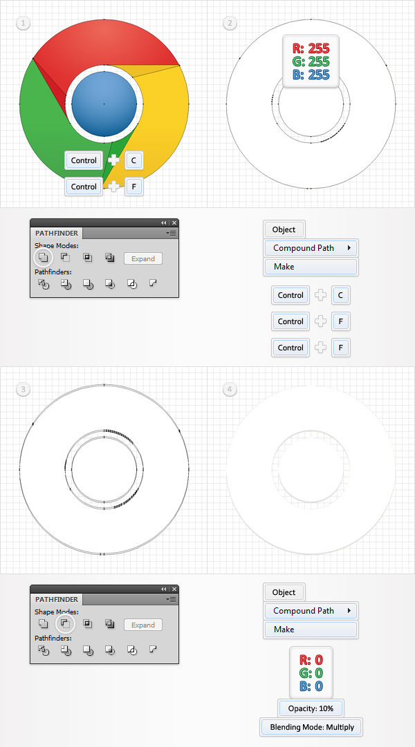 How to Create a Simple Google Chrome Icon in Adobe Illustrator 12