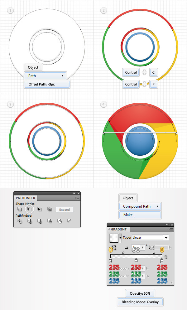 How to Create a Simple Google Chrome Icon in Adobe Illustrator 14