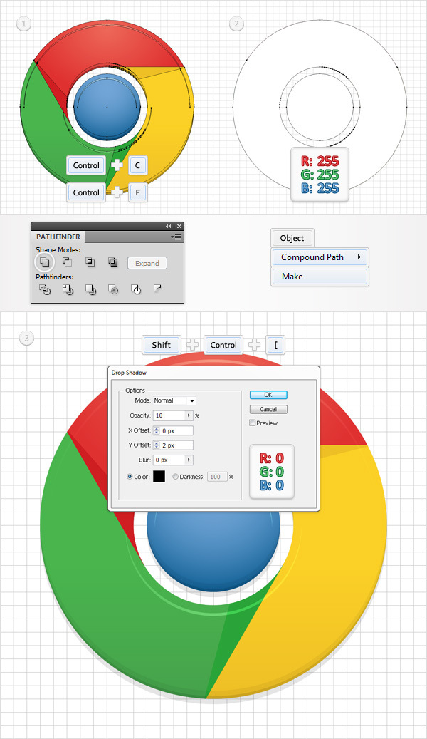 How to Create a Simple Google Chrome Icon in Adobe Illustrator 15