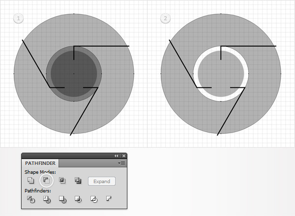 How to Create a Simple Google Chrome Icon in Adobe Illustrator 6