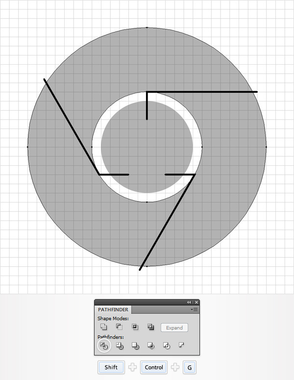 How to Create a Simple Google Chrome Icon in Adobe Illustrator 7