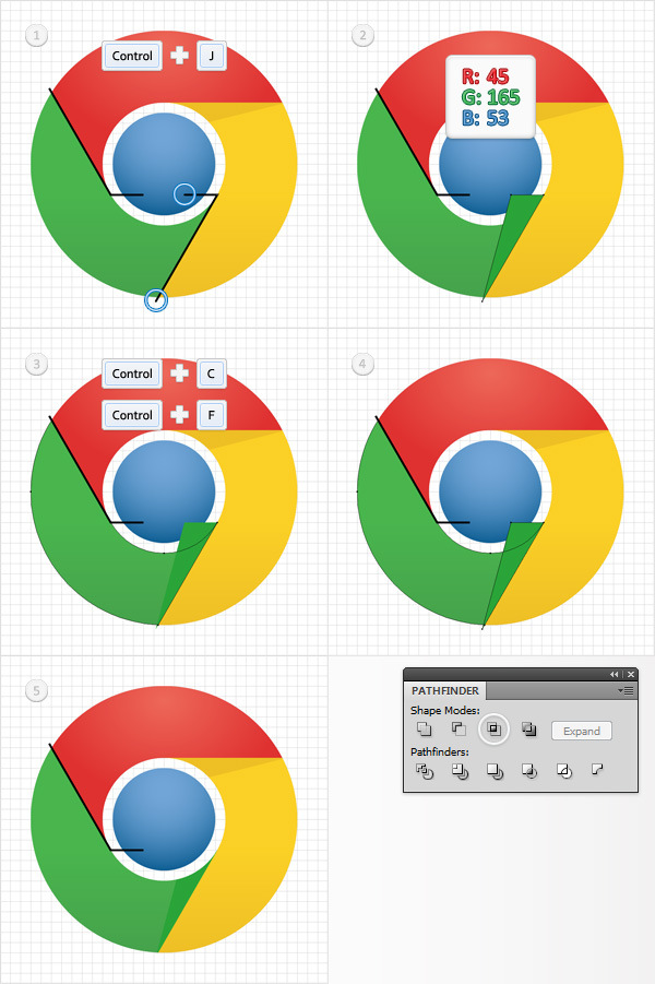 How to Create a Simple Google Chrome Icon in Adobe Illustrator 10