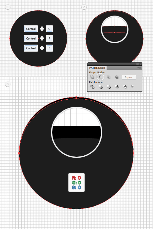 How to Create a Simple Google Chrome Icon in Adobe Illustrator 3
