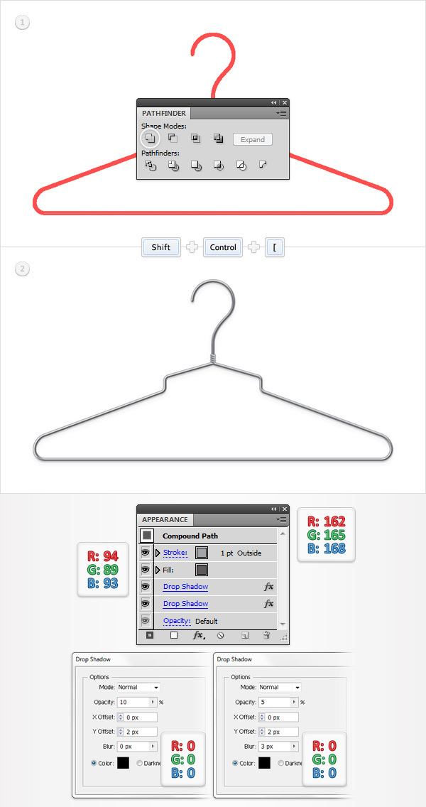 Create a Simple Hanger Illustration 23