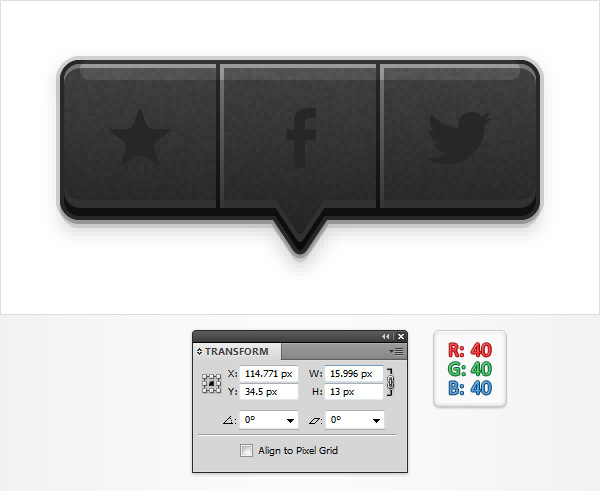 Create a Social Tooltip in Adobe Illustrator 18