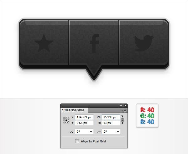 Create a Social Tooltip in Adobe Illustrator 18