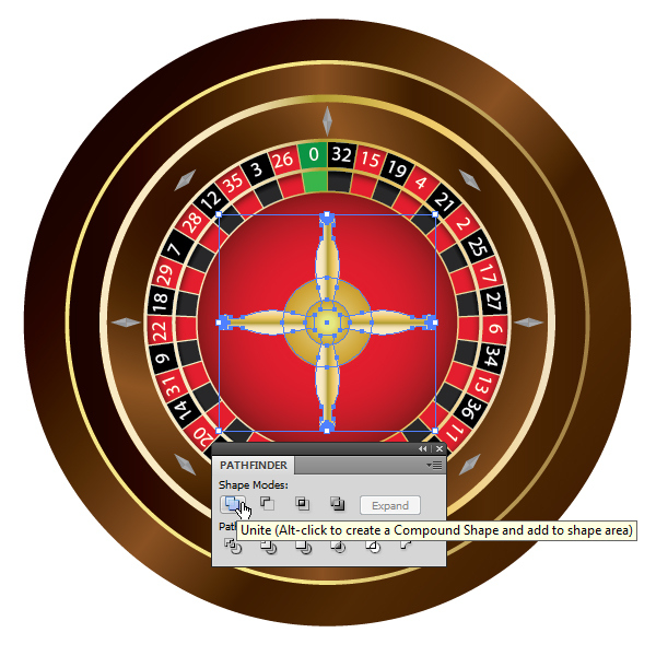 How to Create a Roulette Wheel in Adobe Illustrator 56
