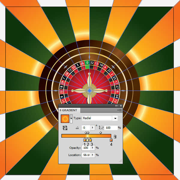 How to Create a Roulette Wheel in Adobe Illustrator 67