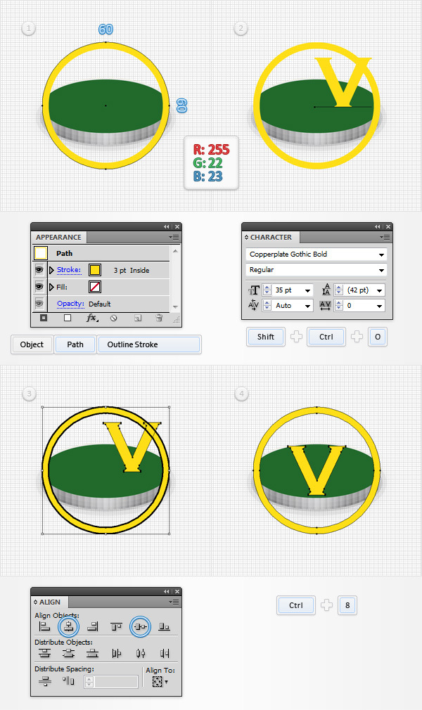 How to Create a Coins Icon in Adobe Illustrator 10