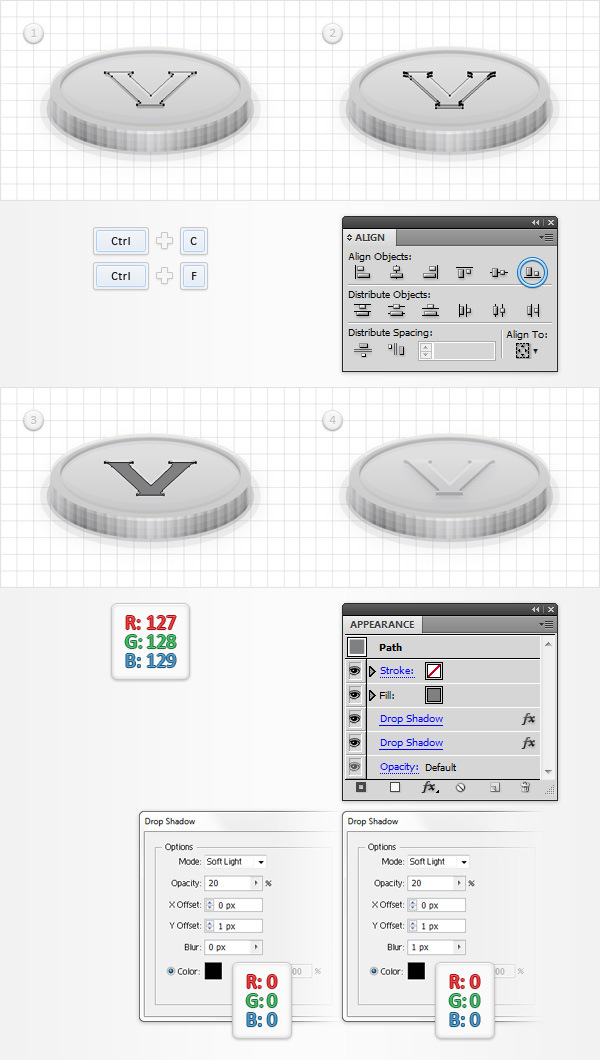 How to Create a Coins Icon in Adobe Illustrator 25