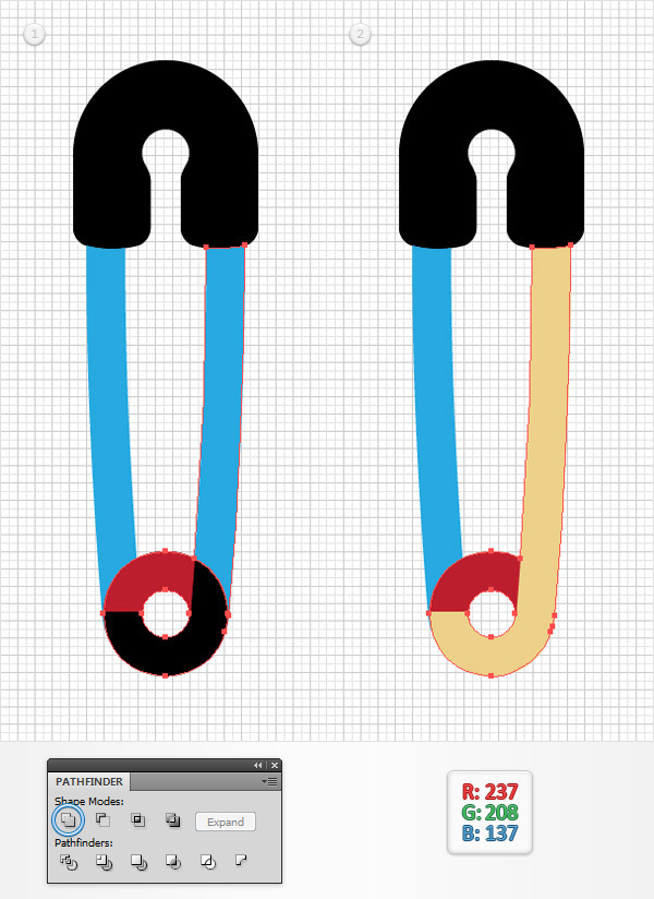 How to Create a Safety Pin Illustration in Adobe Illustrator 11
