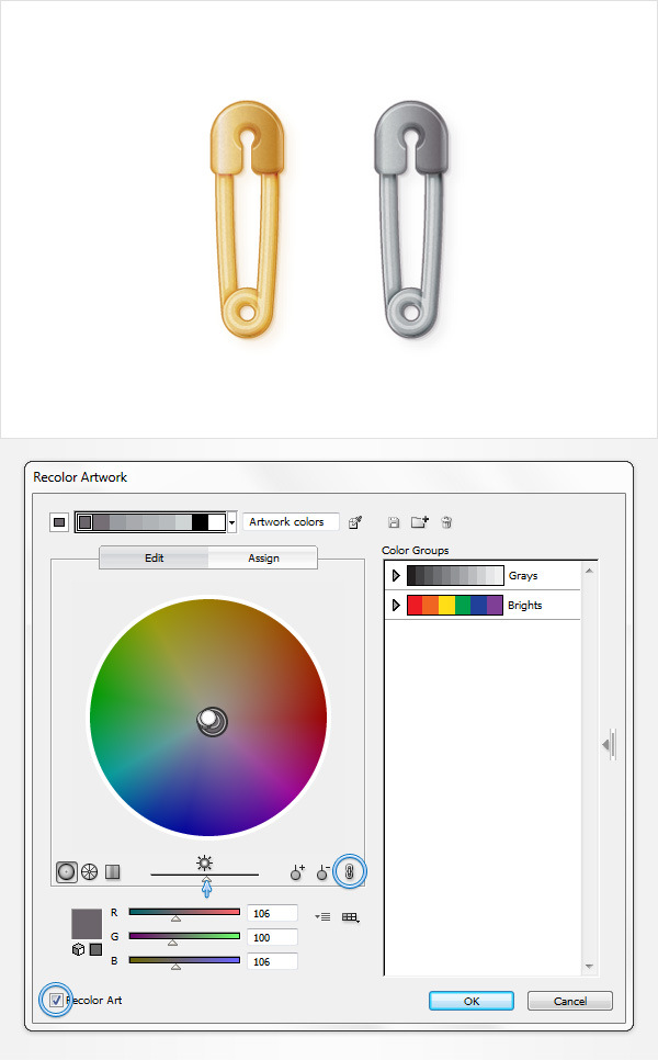 How to Create a Safety Pin Illustration in Adobe Illustrator 34