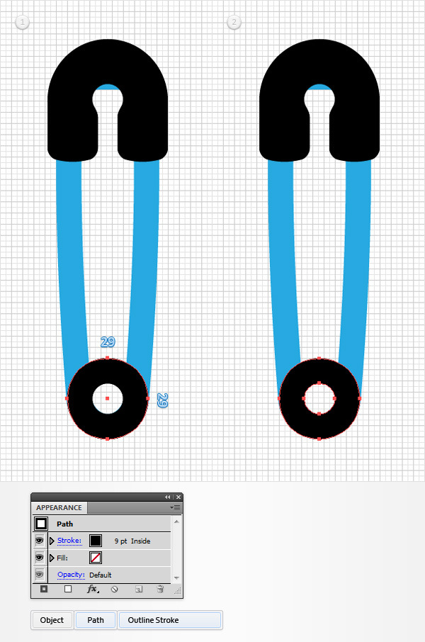 How to Create a Safety Pin Illustration in Adobe Illustrator 7