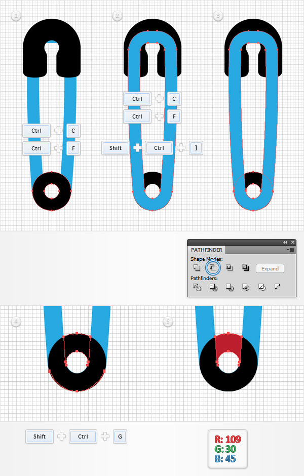 How to Create a Safety Pin Illustration in Adobe Illustrator 8