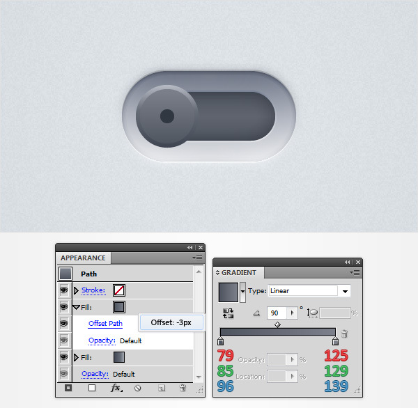 How to Create a Neat Switch Button in Adobe Illustrator 16