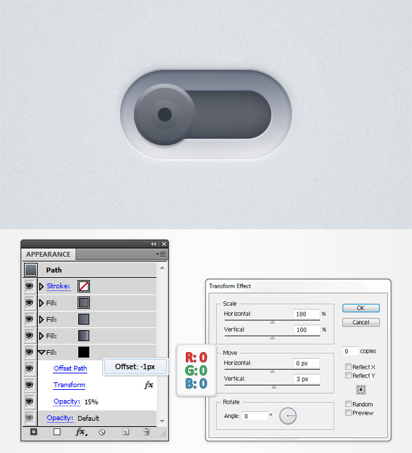 How to Create a Neat Switch Button in Adobe Illustrator 18