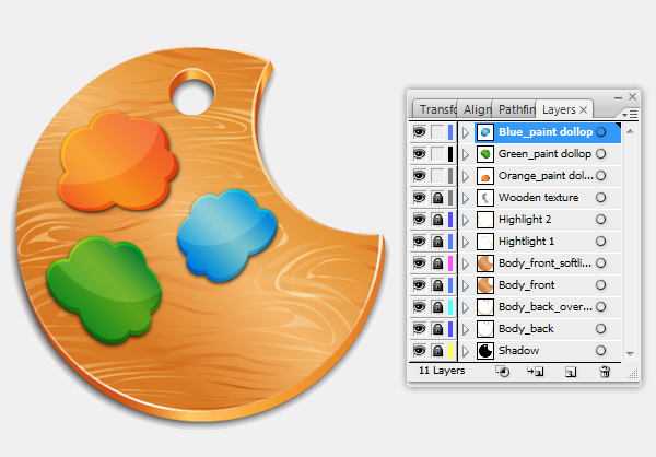 How to create paint icon in Adobe Illustrator