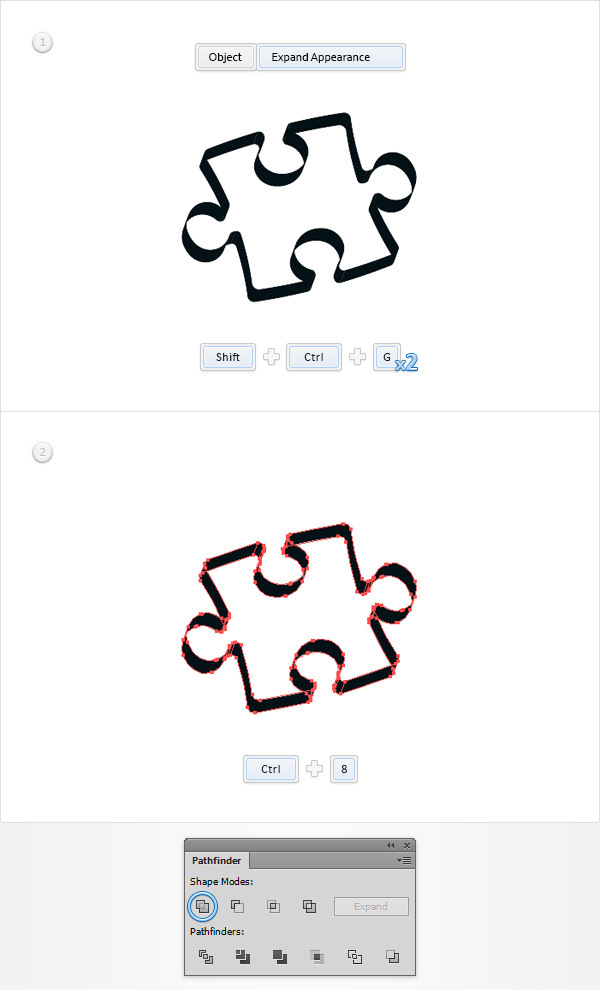 How to Create a Puzzle Piece Icon 10