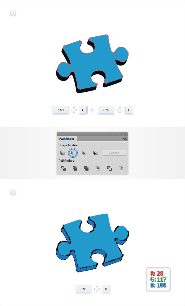 How to Create a Puzzle Piece Icon 11