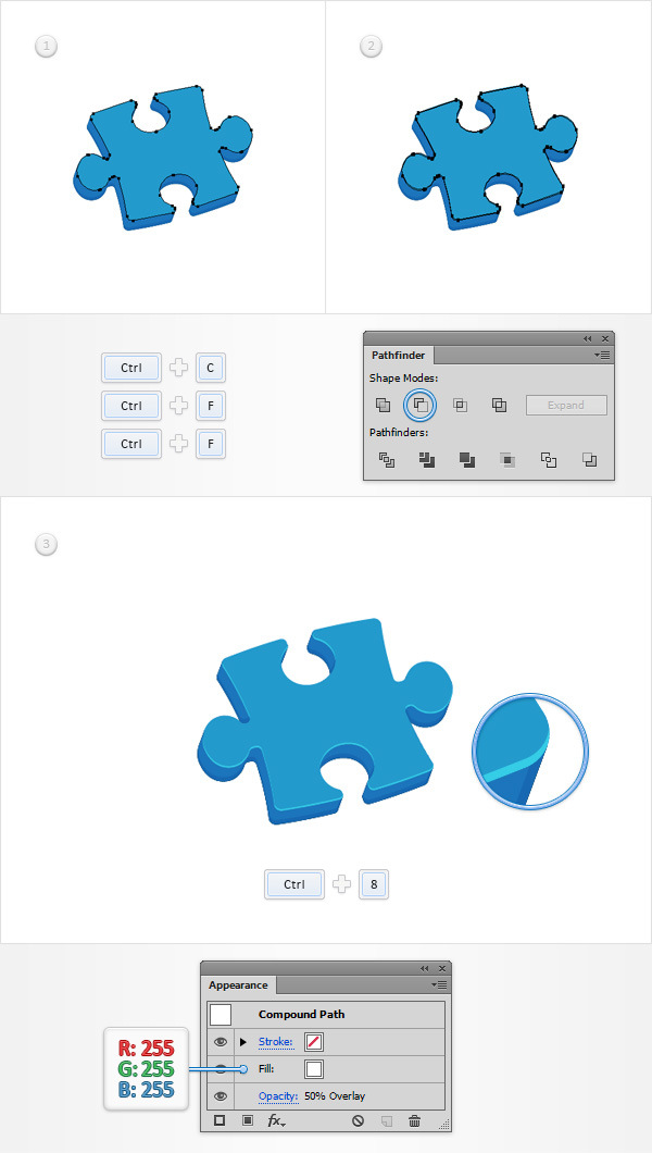 How to Create a Puzzle Piece Icon 13