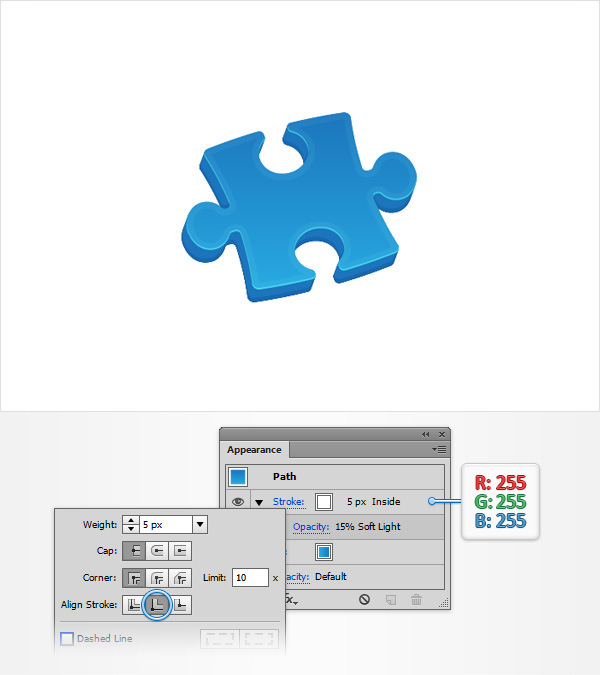 How to Create a Puzzle Piece Icon 15