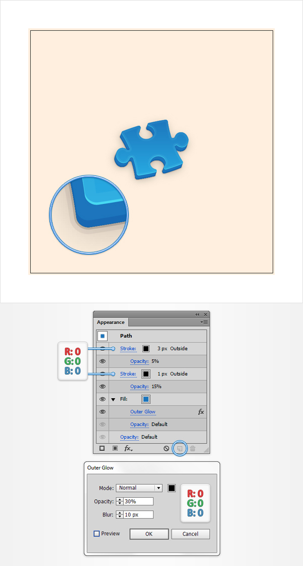 How to Create a Puzzle Piece Icon 17