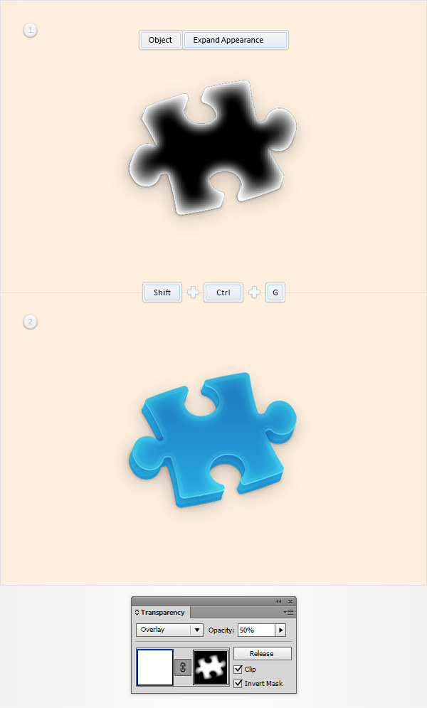 How to Create a Puzzle Piece Icon 19