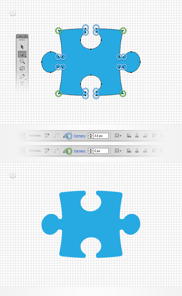 How to Create a Puzzle Piece Icon 8