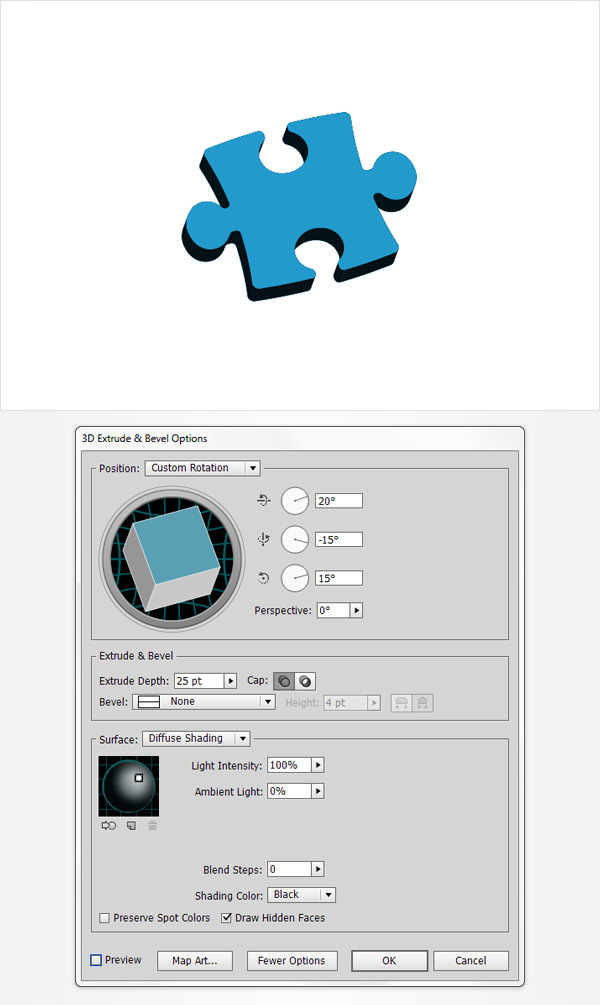 How to Create a Puzzle Piece Icon 9