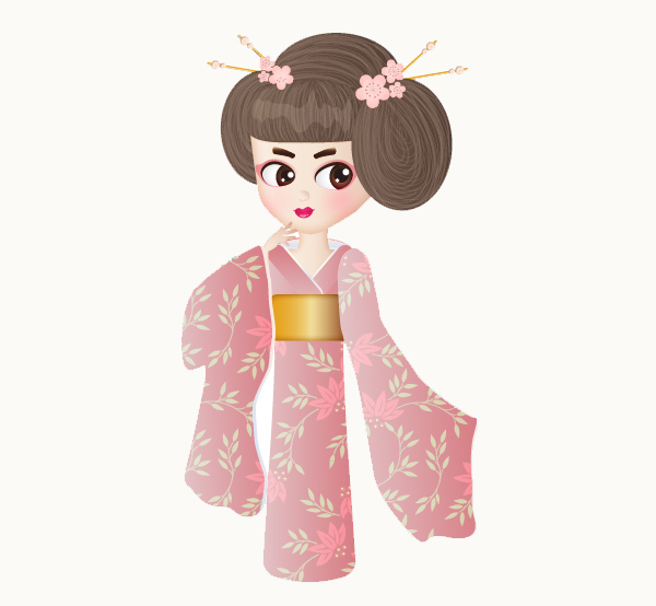 Create a Geisha Girl in Adobe Illustrator 11