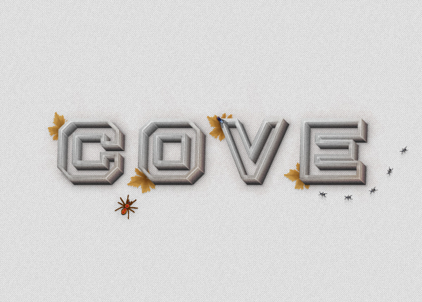 How to Create a Concrete Text Effect