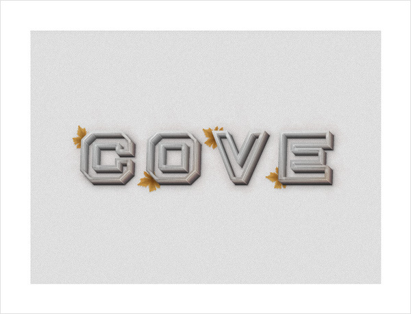 How to Create a Concrete Text Effect 43