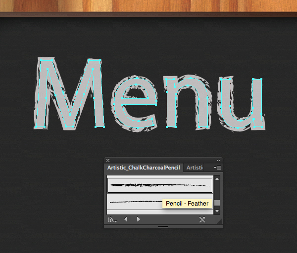Create a Chalkboard Menu in Adobe Illustrator 10