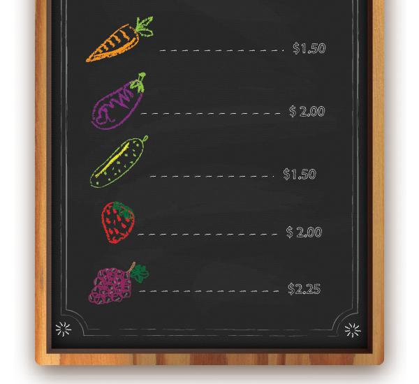 Create a Chalkboard Menu in Adobe Illustrator 25