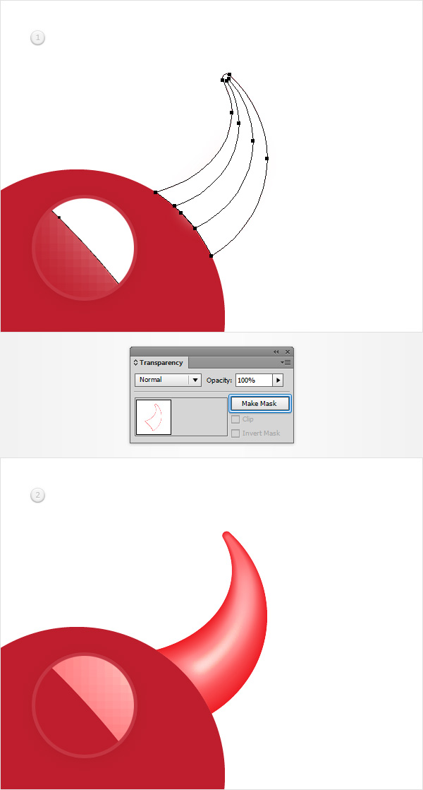 How to Create a Devil Horns Toy Illustration 16