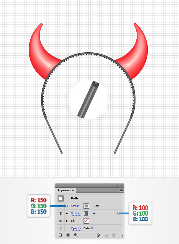 How to Create a Devil Horns Toy Illustration 25