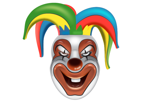 How to Create a Clown Face in Adobe Illustrator 114