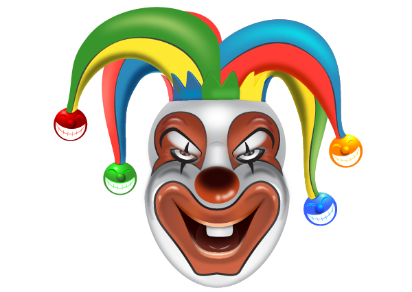 How to Create a Clown Face in Adobe Illustrator 123