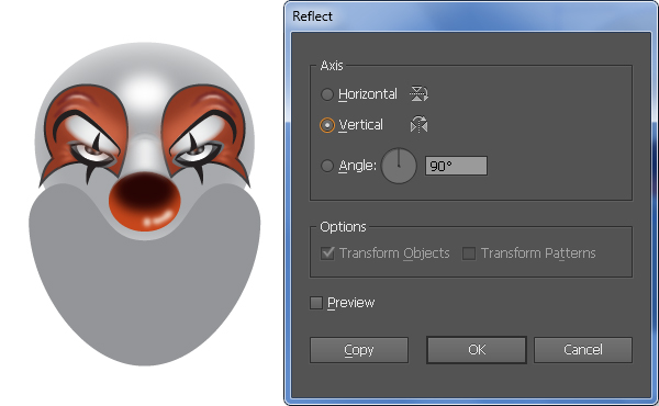 How to Create a Clown Face in Adobe Illustrator 43