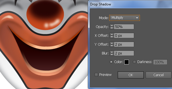 How to Create a Clown Face in Adobe Illustrator 66