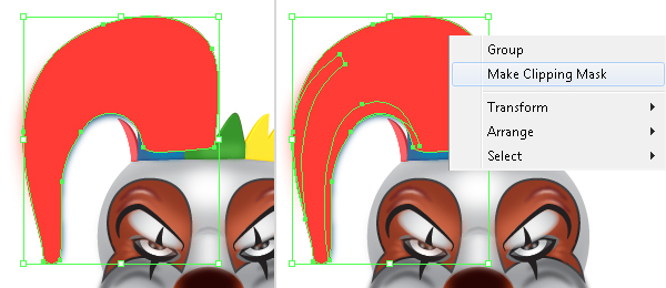 How to Create a Clown Face in Adobe Illustrator 91