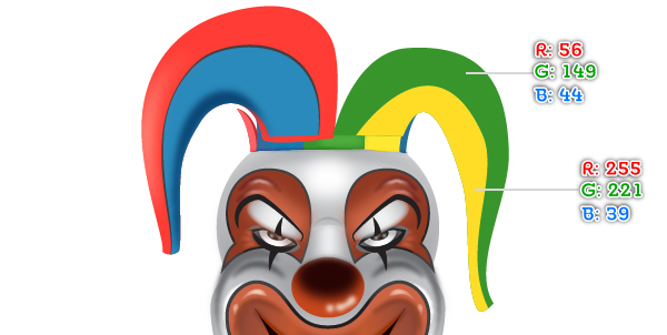 How to Create a Clown Face in Adobe Illustrator 96