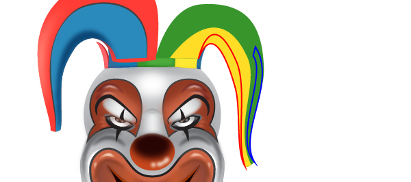 How to Create a Clown Face in Adobe Illustrator 97