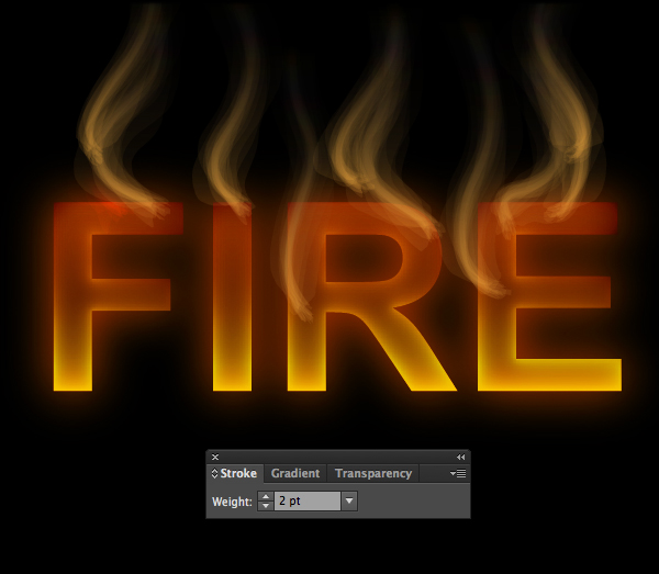 How to create fire text effect in 10 minutes in Illustrator 11