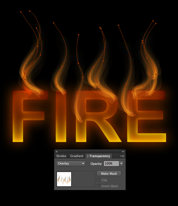 How to create fire text effect in 10 minutes in Illustrator 12
