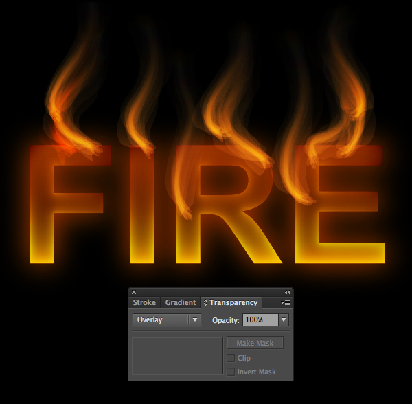 How to create fire text effect in 10 minutes in Illustrator 13