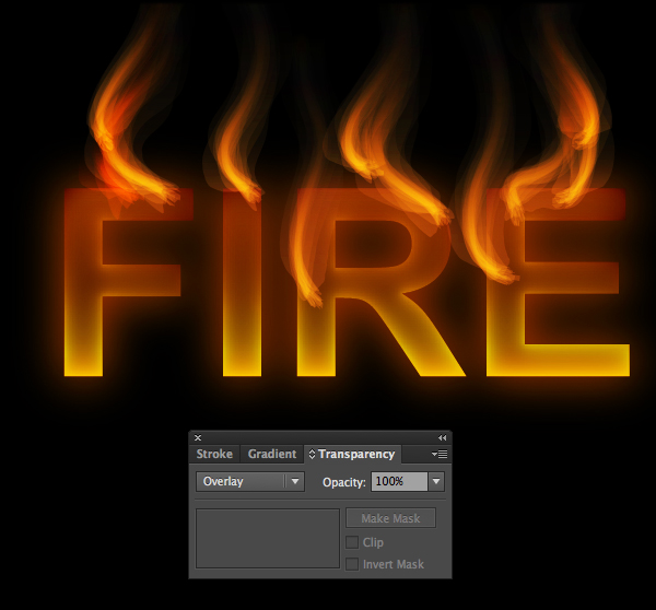 How to create fire text effect in 10 minutes in Illustrator 14
