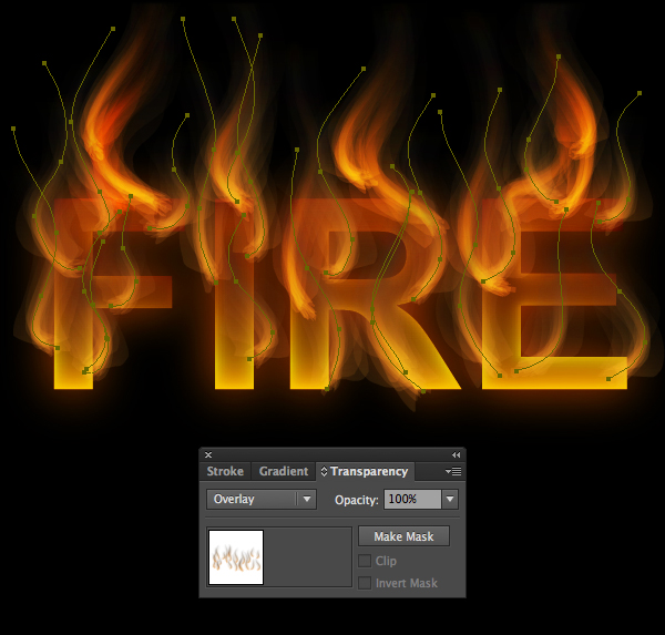 How to create fire text effect in 10 minutes in Illustrator 16