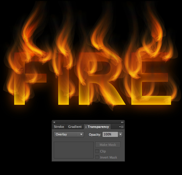 How to create fire text effect in 10 minutes in Illustrator 17